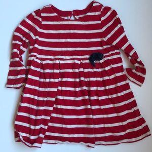 12-18M GAP Red Striped Dress